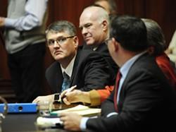 From left, Rep. Don Turner, Sen. Joe Benning and their attorney, Rep. Janssen Willhoit. - STEFAN HARD