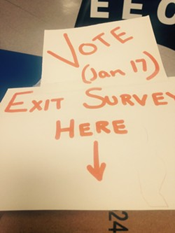 A sign at the zoning vote in Jericho Tuesday - MOLLY WALSH/SEVEN DAYS