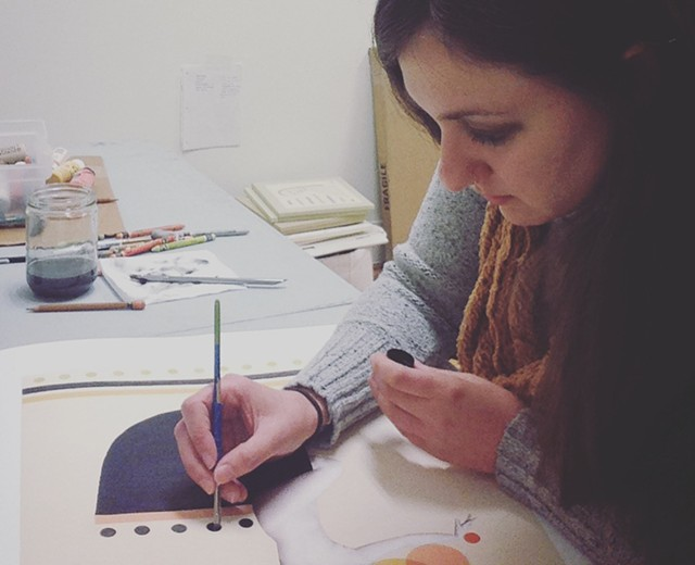 Athena Petra Tasiopoulos at work - COURTESY OF STUDIO PLACE ARTS