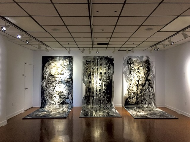"""Left to right: """"Untitled 3,""""""""Waterfall"""" and """"Bartholomew"""" - PHOTOS COURTESY OF MISOO FILAN"""