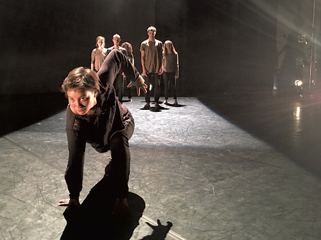 The Dance Company of Middlebury in rehearsal for Border /  Zones - COURTESY OF SCOTTY HARDWIG
