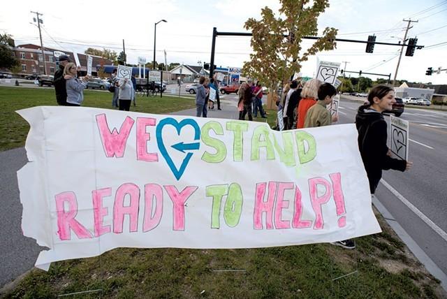 Rutland Welcomes rally last September - CALEB KENNA