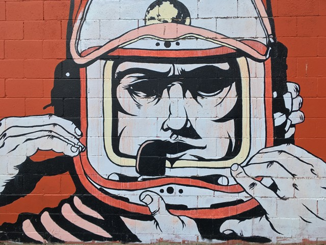S.P.A.C.E. Gallery's Spaceman mural by Adam Devarney - RACHEL JONES