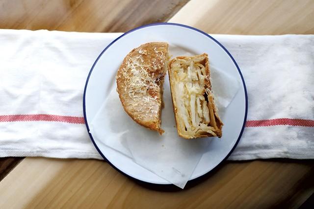 Cheese, potato and artichoke pie - SARAH PRIESTAP