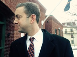 Brooks McArthur outside the courthouse Friday - MOLLY WALSH