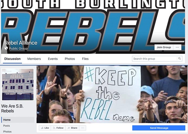 The Rebel Alliance and We Are S.B. Rebels Facebook pages - SEVEN DAYS