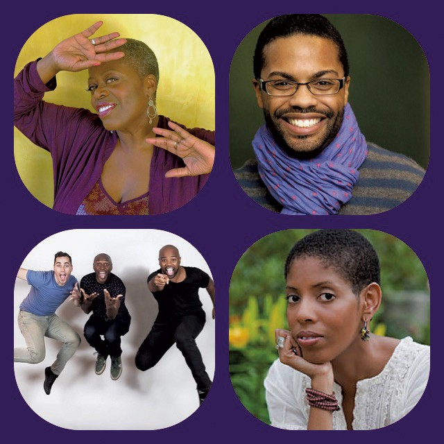 Clockwise from top left: Lillias White, Harrison David Rivers, Lydia Diamond, cast of Polkadots: The Cool Kids Musical - COURTESY OF JARVIS GREEN