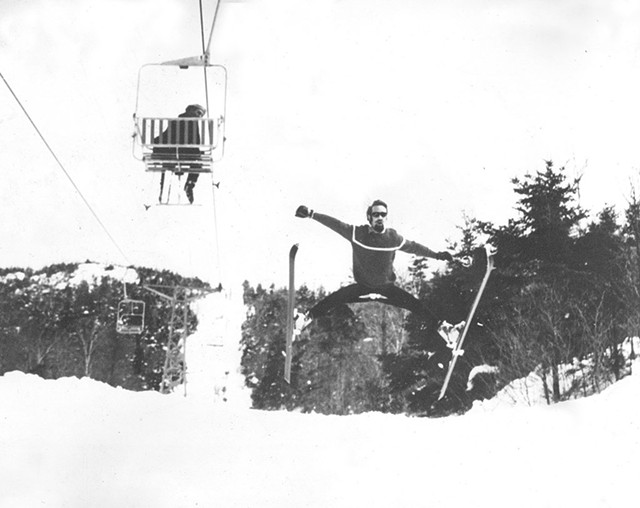 Mike Ware splitting his pants on the slopes - COURTESY OF MIKE WARE