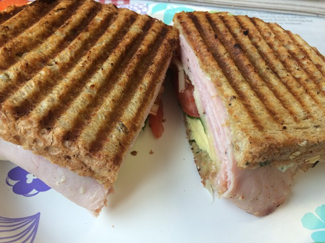 A breakfast panino at the Little Red Kitchen - SUZANNE PODHAIZER
