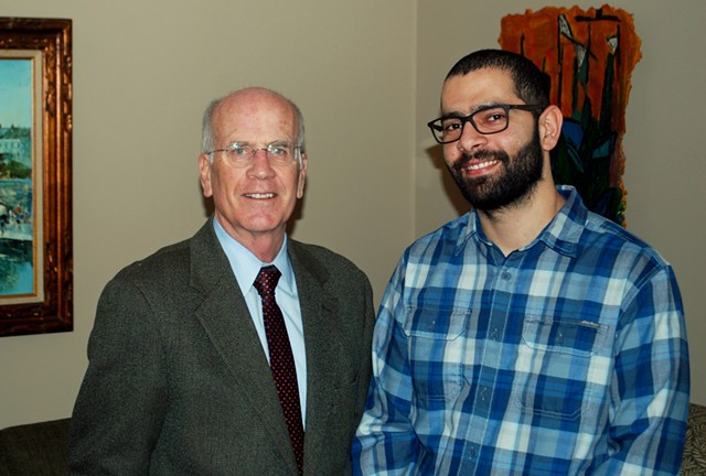 Rep. Peter Welch, left, with Ahmed Alsaeedi - COURTESY: OFFICE OF REP. PETER WELCH (D-VT.)