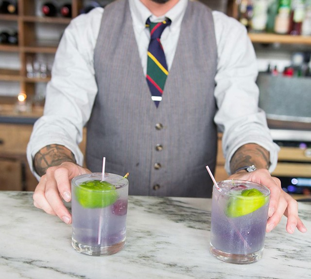 Drinks being served at Oak45, which will reopen as a gay bar - COURTESY OF OAK45