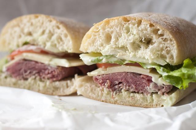 The Fairbanks roast beef sandwich at Eastern & Main Market-Deli - HANNAH PALMER EGAN