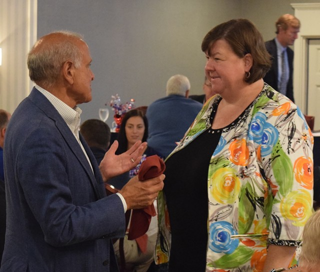 Darcie Johnston at a Vermont Republican Party gathering in August - FILE
