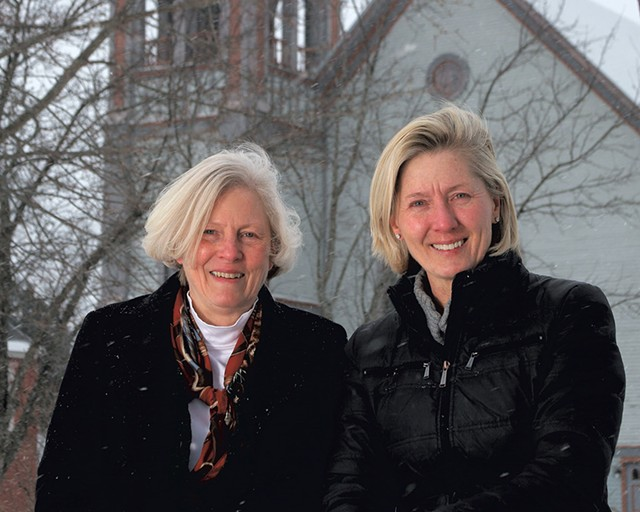 Jane Kitchel (left) and Kitty Toll - ROBERT C. JENKS