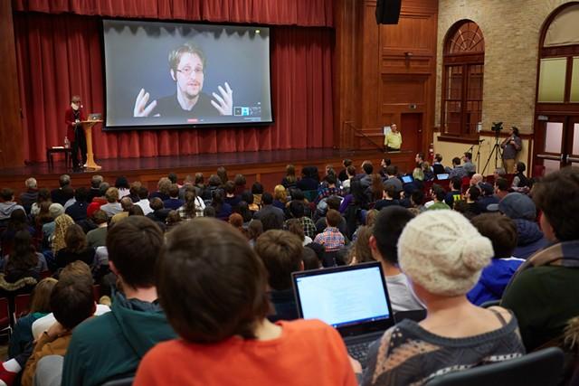 Snowden speaks. - TODD BALFOUR