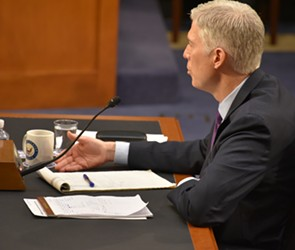 Judge Neil Gorsuch testifying before the Senate Judiciary Committee - PHOTO COURTESY SEN. PATRICK LEAHY'S OFFICE