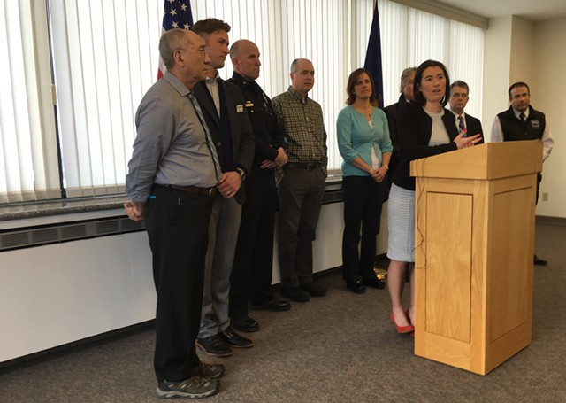 Chittenden County State's Attorney Sarah George at a press conference Wednesday - MARK DAVIS