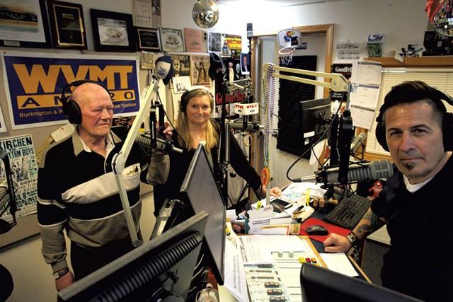 Left to right: Ernie Farrar, Lisa Nagle and Charlie Papillo - MATTHEW THORSEN