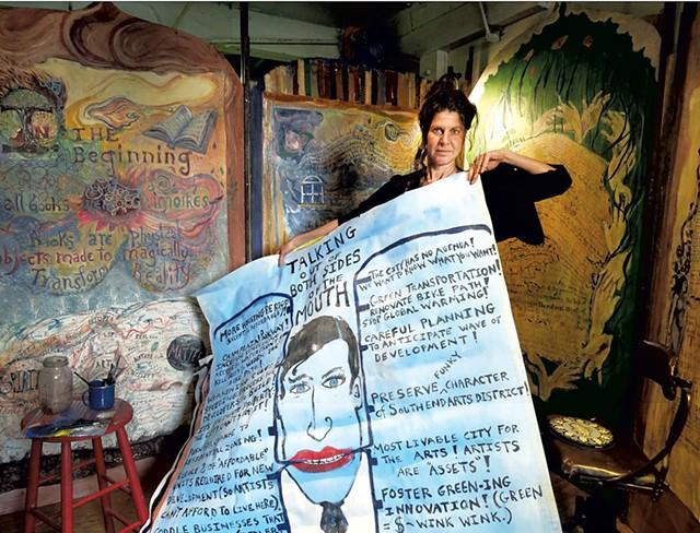 Genese Grill in her studio - DAN HIGGINS