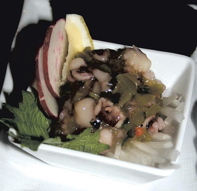 Octopus with wasabi (takowasa) - SUZANNE PODHAIZER