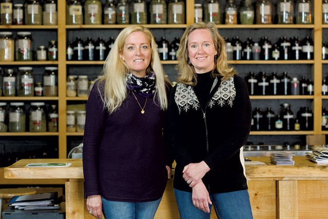 Louisa Schibli (left) and Janice Shade at the Burlington Herb Clinic - OLIVER PARINI