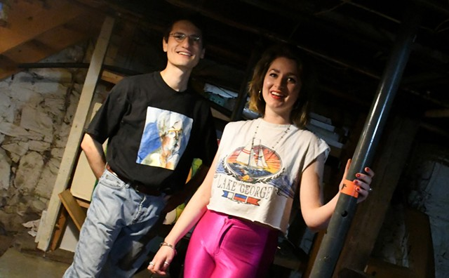 Jack Braunstein and Caroline DeCunzo of Como Tapes - LEE KROHN