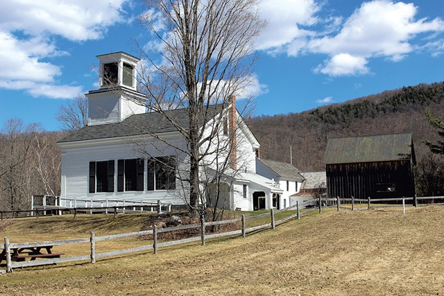Calvin Coolidge's birthplace and church in Plymouth Notch - PAUL HEINTZ