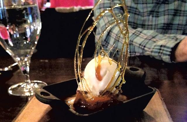 Apple bread pudding at Junction - CAROLYN FOX