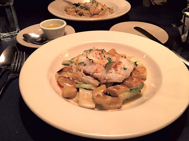 Cod with gnocchi at Sarducci's - PAMELA POLSTON