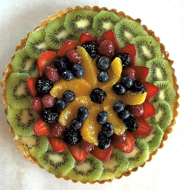 Fruit tart from Red House Sweets