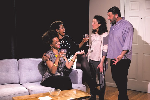 Left to right: Jammie Patton, Nellesa Walthour, Marianne DiMascio and Jordan Gullikson - COURTESY OF LINDSAY RAYMONDJACK PHOTOGRAPHY