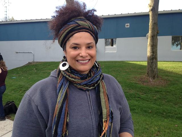 Vicki Garrison, organizer of Wednesday's vigil - MOLLY WALSH