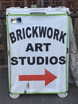 Sandwich board for Brickwork Art Studios - PAMELA POLSTON