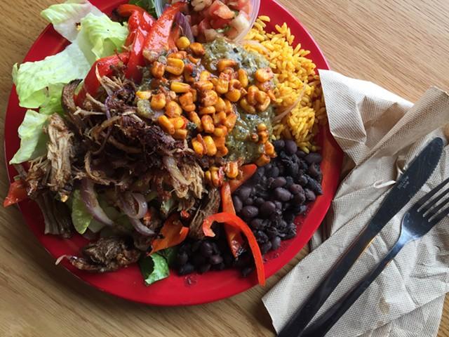 Carnitas grilled salad, Bueno Y Sano - HANNAH PALMER EGAN