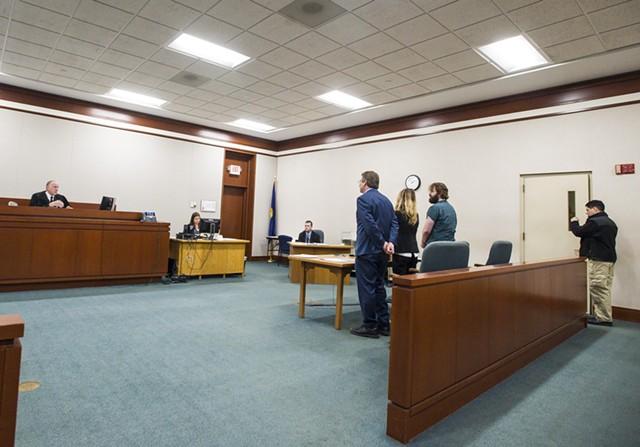 Steven Bourgoin at a hearing Monday - GLENN RUSSELL/BURLINGTON FREE PRESS