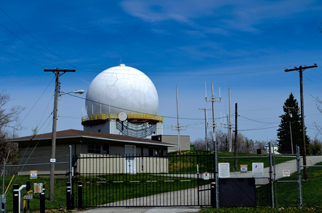 The Federal Aviation Administration radome atop Bellevue Hill in St. Albans - KEN PICARD