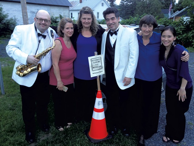 Craftsbury Chamber Players (left to right) Chad Smith, Katherine Winterstein, Mary Rowell, Kenji Bunch, Frances Rowell and Monica Ohuchi - COURTESY OF CCP