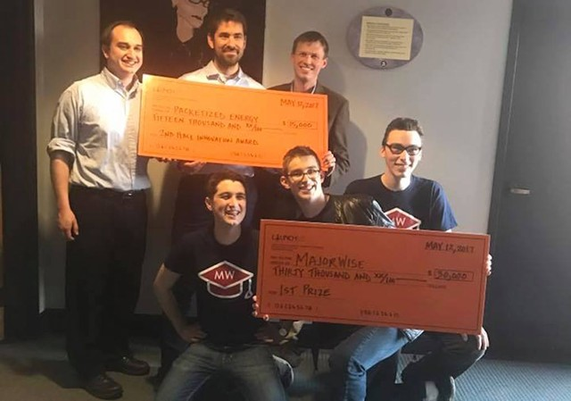 LaunchVT winners: Majorwise and Packetized Energy - COURTESY OF LAUNCHVT FACEBOOK PAGE