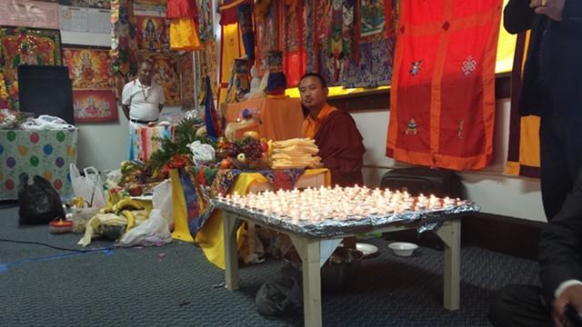 Lama Guru Samten presiding over Buddhist rites - KYMELYA SARI