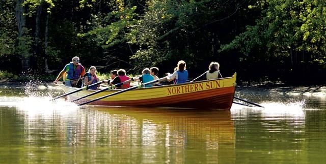 Longboat rowing - COURTESY OF LAKE CHAMPLAIN MARITIME MUSEUM