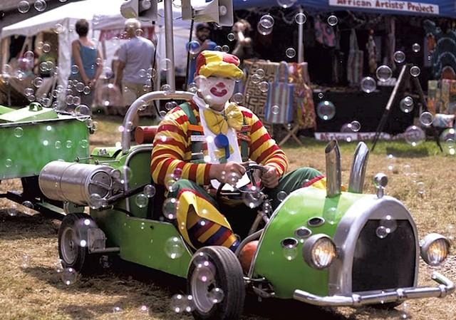 Daniel Jolley as Buddy the Clown - COURTESY OF DANIEL JOLLEY