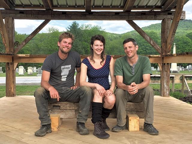 Left to right: Worcester Farmers Market organizers Kyle Devitt, Amanda Franz and Ryan Leclerc