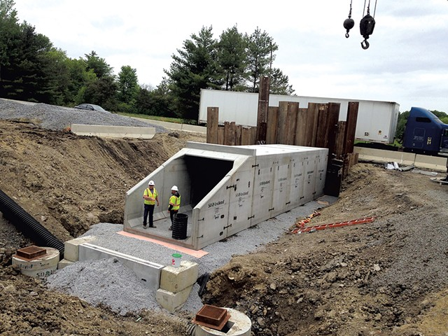 The pedestrian tunnel under Route 7 in Charlotte - MOLLY WALSH
