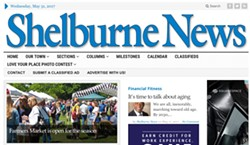 Shelburne News homepage - SCREENSHOT