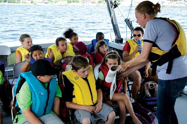 Visitors on a shipwreck tour - PHOTOS COURTESY OF LAKE CHAMPLAIN MARITIME MUSEUM