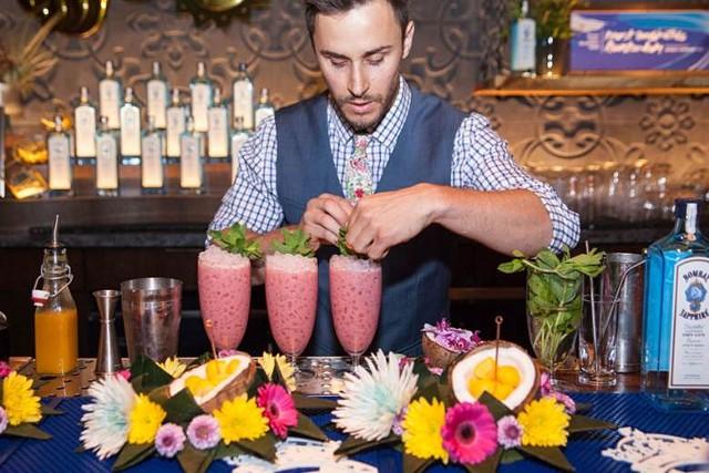 Eddie DiDonato and his winning cocktail, Tiger's Milk - COURTESY