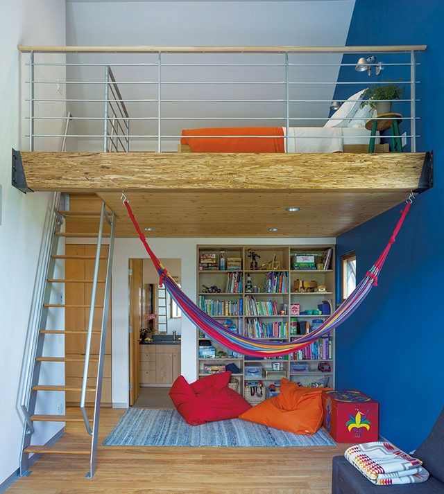 The playroom triples as a TV room and guest loft. - JIM WESTPHALEN