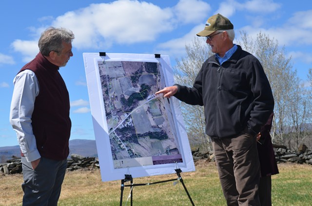 Brian Shupe of the Vermont Natural Resources Council and Tim Storrow of the Castanea Foundation - KATIE JICKLING