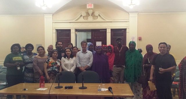 Parent University students with Mayor Miro Weinberger at the City Hall - KYMELYA SARI