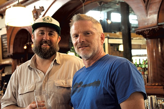 Matt Wilson (left) and Michael Kuk - MATTHEW THORSEN